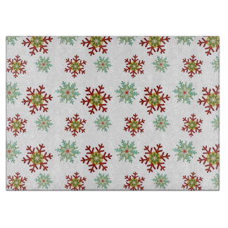 Retro Ornate Snowflake Winter Pattern Cutting Board