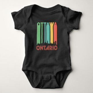 Retro Ottawa Skyline Baby Bodysuit