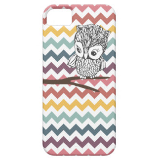 Retro Owl Chevron iPhone 5 Case