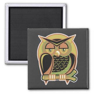 retro owl design magnets