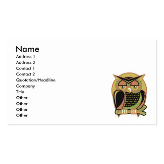 retro owl design pack of standard business cards