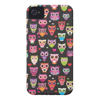 Retro owl pattern illustration iPhone 4 Case-Mate cases