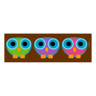 retro OWL personal mini ID card Business Card