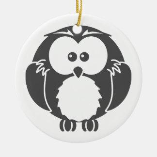 Retro Owl Round Ceramic Decoration
