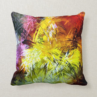 Retro Paint Abstract Plush Throw Pillow