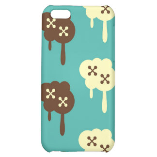 Retro paint splatter graffiti kawaii cloud pattern iPhone 5C case