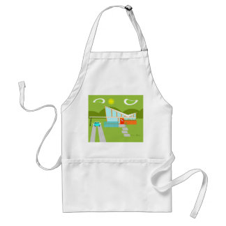 Retro Palm Springs House Apron