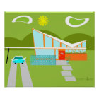 Retro Palm Springs House Poster
