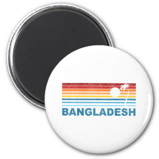 Retro Palm Tree Bangladesh Magnet