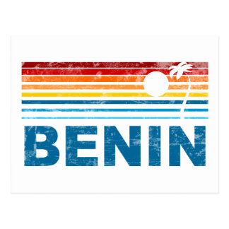 Retro Palm Tree Benin Postcard