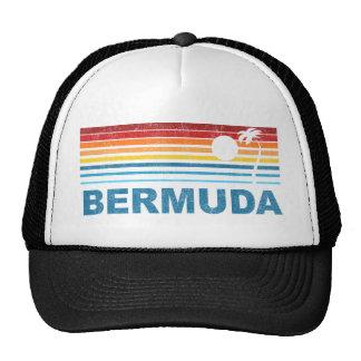 Retro Palm Tree Bermuda Mesh Hat