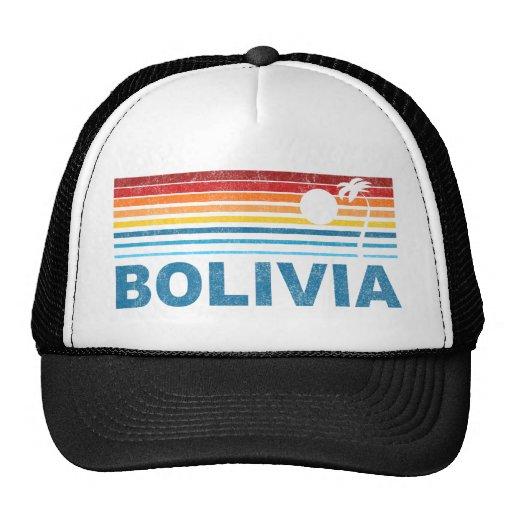 Retro Palm Tree Bolivia Mesh Hat