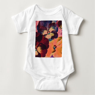 Retro Pansies Baby Bodysuit