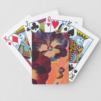 Retro Pansies Bicycle Playing Cards