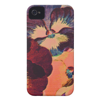 Retro Pansies Case-Mate iPhone 4 Cases