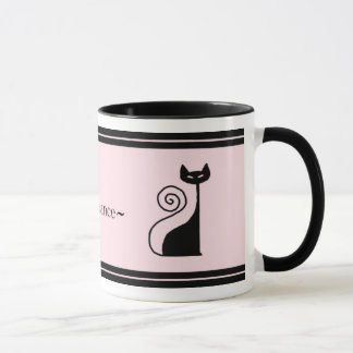 Retro Paris Chic Kitty Cat Mug