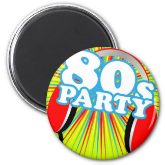 Retro Party 6 Cm Round Magnet