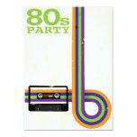 "Retro Party Background 5"" X 7"" Invitation Card"