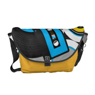 Retro Party Background Courier Bag