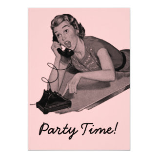 Retro Party Card