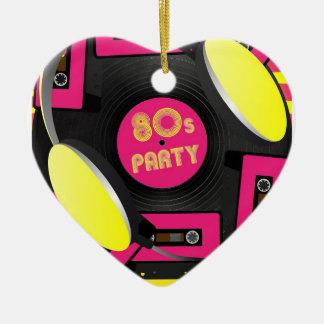 Retro Party Ceramic Heart Decoration