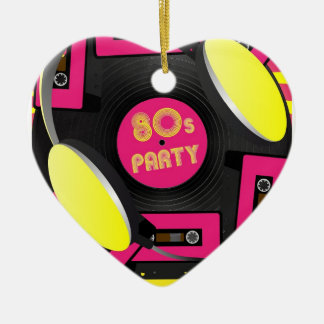Retro Party Ceramic Ornament