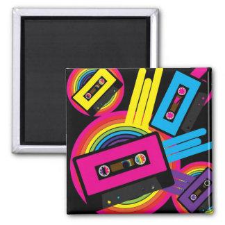 Retro Party Design Square Magnet