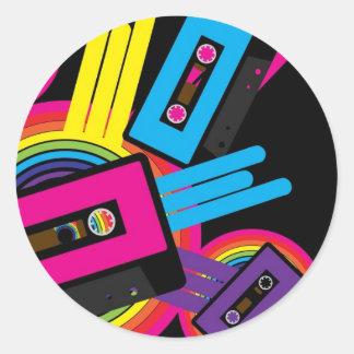 Retro Party Design Round Sticker