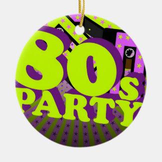 Retro Party Round Ceramic Decoration