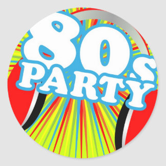 Retro Party Round Sticker