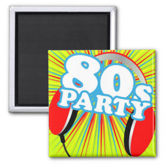 Retro Party Square Magnet