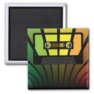 Retro Party Square Magnet