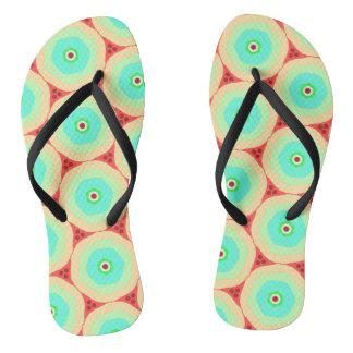 Retro pastels in circles thongs