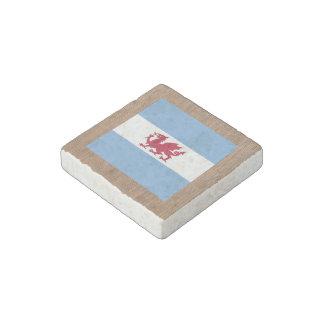 Retro Patagonia Flag Stone Magnet