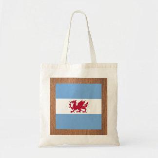 Retro Patagonia Flag Budget Tote Bag