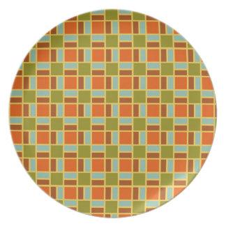 Retro Patio Tiles Plate