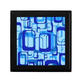 Retro Pattern 1971 Small Square Gift Box