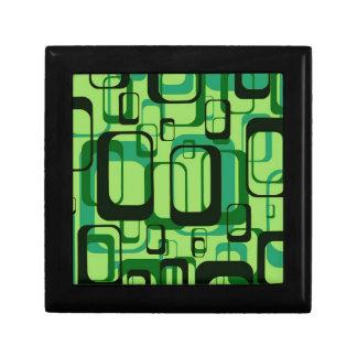retro pattern,1971,green jewelry boxes
