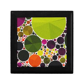 Retro Pattern Abstract Bling Dots Trinket Box