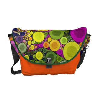 Retro Pattern Abstract Rickshaw Messenger Bag