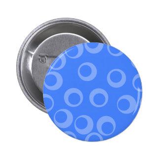 Retro pattern Circle design in blue Pin
