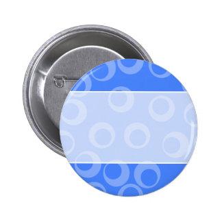 Retro pattern Circle design in blue Pinback Button