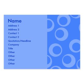 Retro pattern. Circle design in blue. Business Card