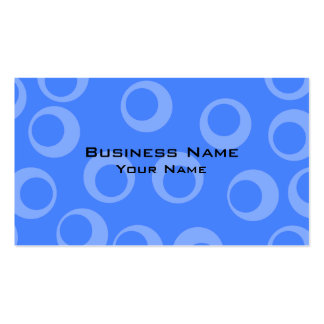 Retro pattern. Circle design in blue. Pack Of Standard Business Cards
