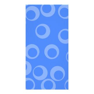 Retro pattern. Circle design in blue. Picture Card