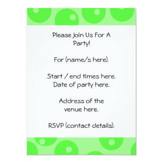 Retro pattern. Circle design in green. 17 Cm X 22 Cm Invitation Card