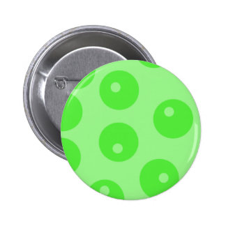 Retro pattern. Circle design in green. 6 Cm Round Badge