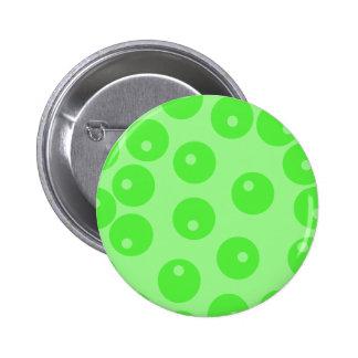 Retro pattern Circle design in green Pin