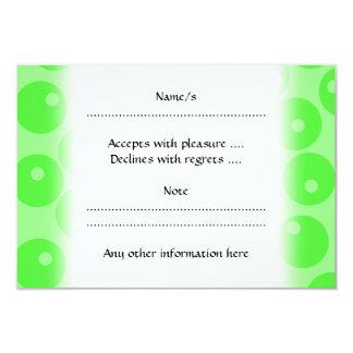 Retro pattern. Circle design in green. Card