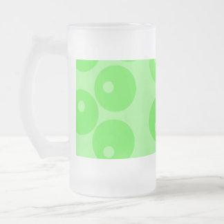 Retro pattern. Circle design in green. Coffee Mugs